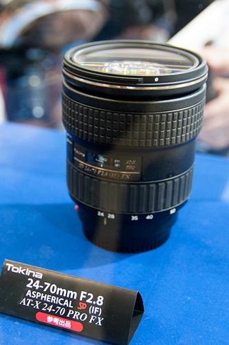 ニッパチファンが注目の「AT-X 70-200 PRO FX」70-200mm F4 ASPHERICAL IFを参考展示